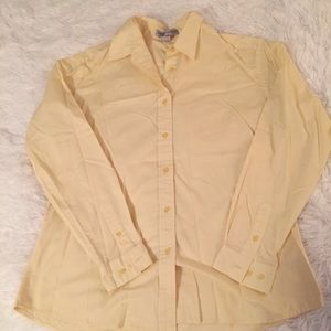 Port Authority Large Women's Yellow Button Up